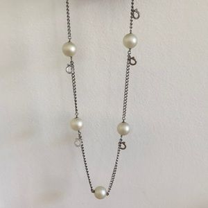 Ferragamo Extra Large Faux Pearl Necklace